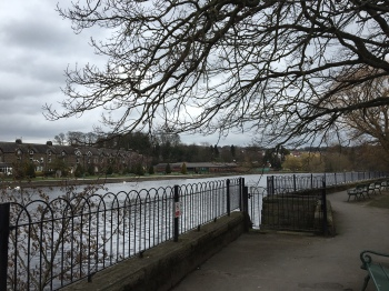 A chilly walk by the River Wharfe in Otley