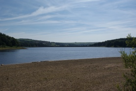 Swinsty Reservoir with the water a little low