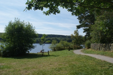 A view from the footpath of Swinsty Reservoir