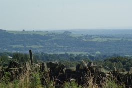 The view across to Ilkley and beyond
