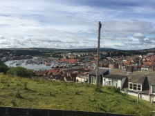 Looking down on Whitby. Thank you Victoria