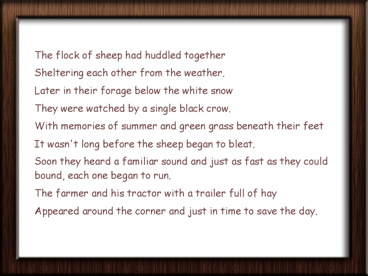 Picture frame sheep rhyme
