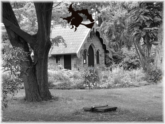 cottage and witch