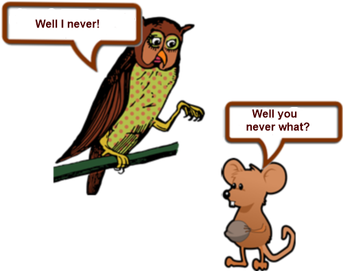 Owl and mouse up a tree PAGE 1