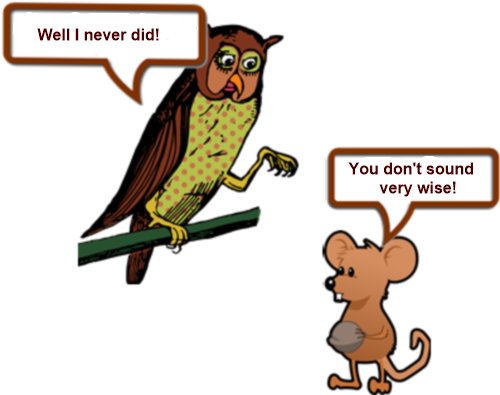 Owl and mouse up a tree PAGE 2