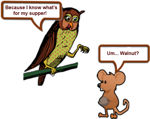 Owl and mouse up a tree PAGE 4