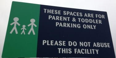 Paretn and toddler parking