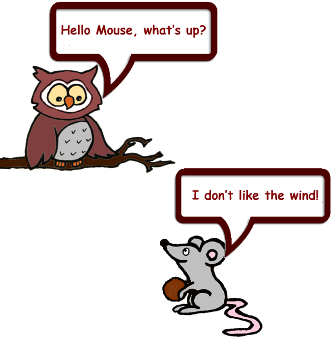 Owl and Mouse Windy day 1