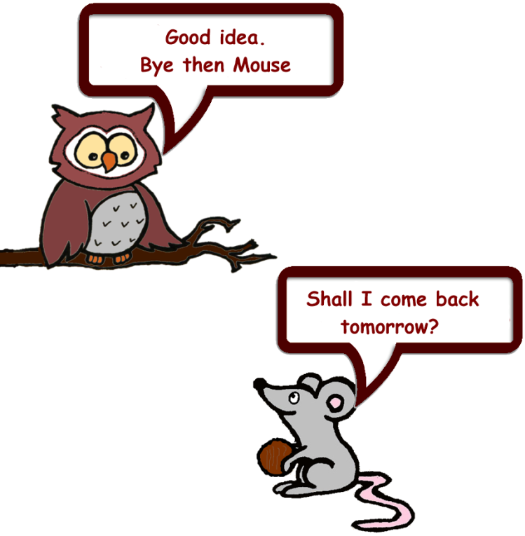 Owl and Mouse Windy day 12