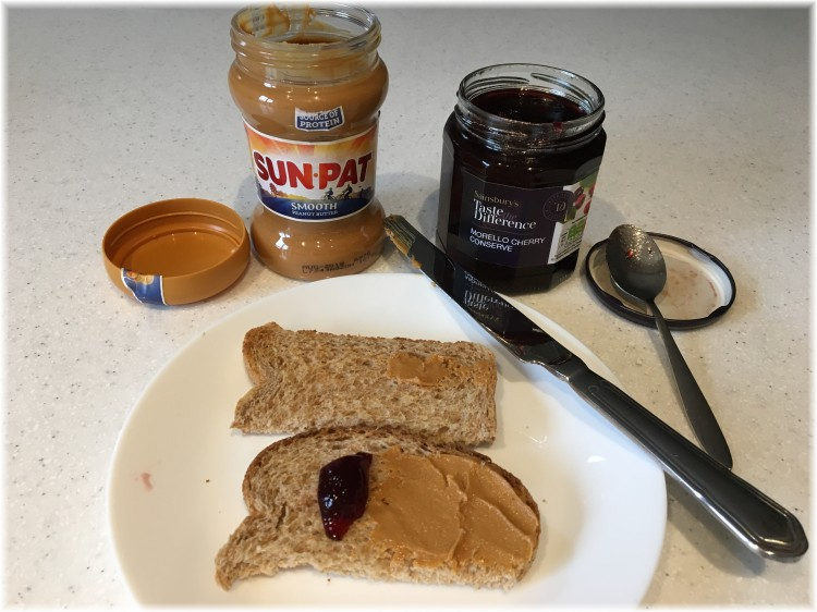Peanut butter and cherry jelly