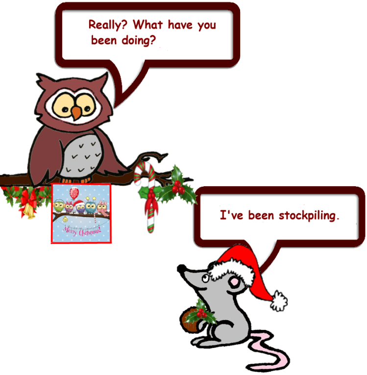 Owl and Mouse do Christmas 2