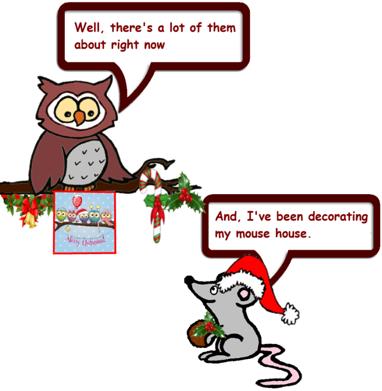 Owl and Mouse do Christmas 4