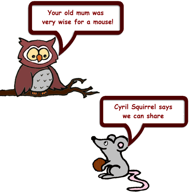 Owl & Mouse and Squirrel's nuts 7