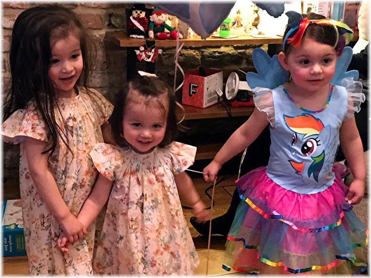 Scarlett, Lily-Jane and Evie