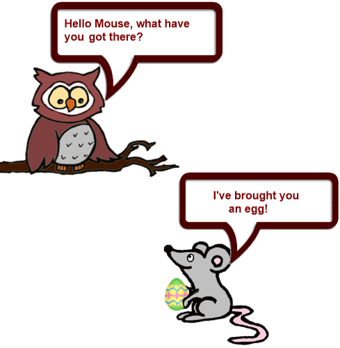 Owl and Mouse Easter 1 png