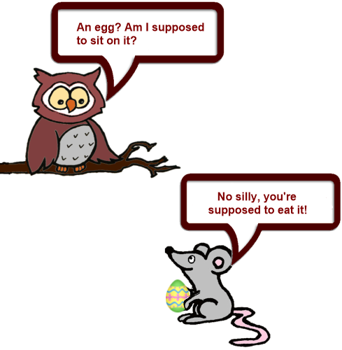 Owl and Mouse Easter 2 png