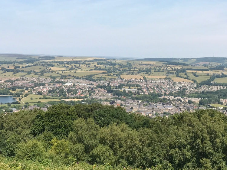 View of Otley from the Chevin