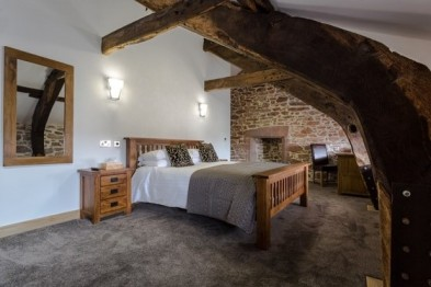 An upstairs bedroom gosforth Hall Inn