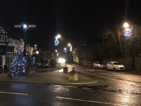 Village Christmas lights 1