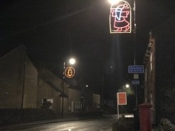 Village Christmas lights 2