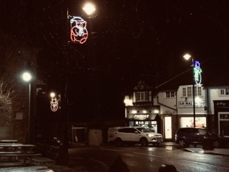 Village Christmas lights 4
