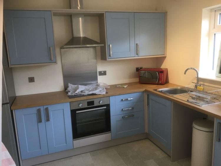 Joss's blue cupboards