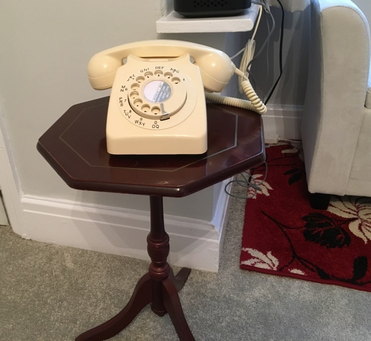 telephone and table