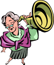 lady with ear trumpet