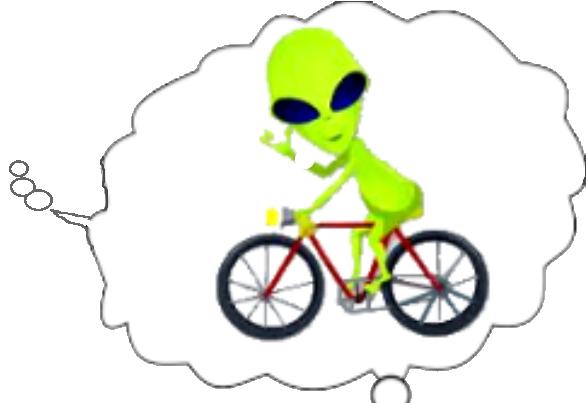 ALien with bike 2