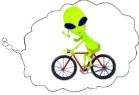 ALien with bike 2
