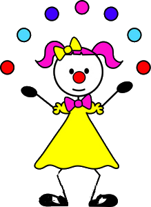 woman- juggling