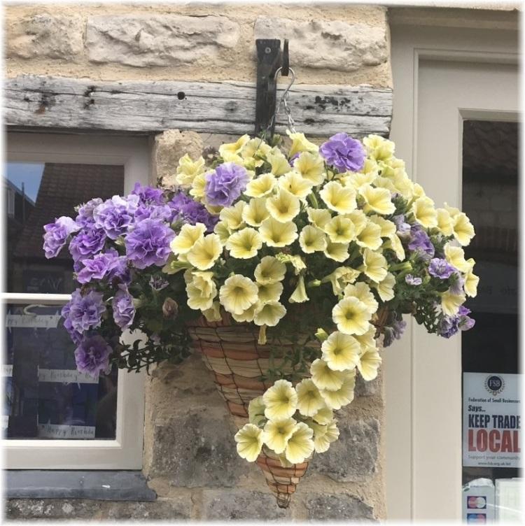 Faux flowers in Helmsley