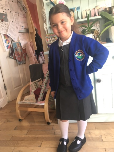 Evie New school uniform