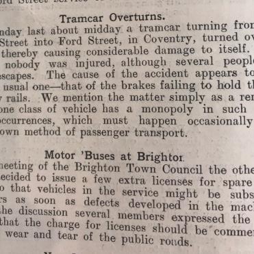 tramcar Overturns