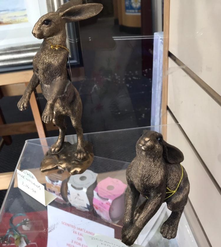 Bronze Hares Otley Art Gallery