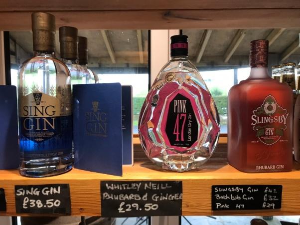 Gin Bottles at Millstones