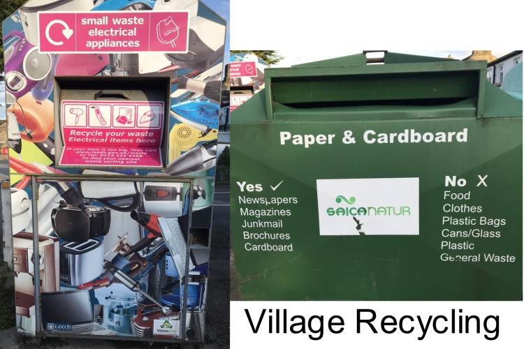 Village Recycling paper and electricals