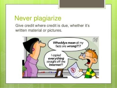 Never Plagiarise