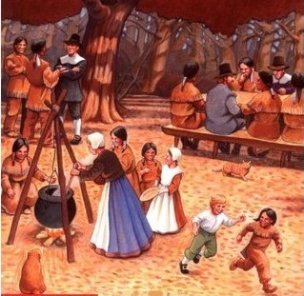 The Pilgrims' First Thanksgiving by Ann McGovern cropped