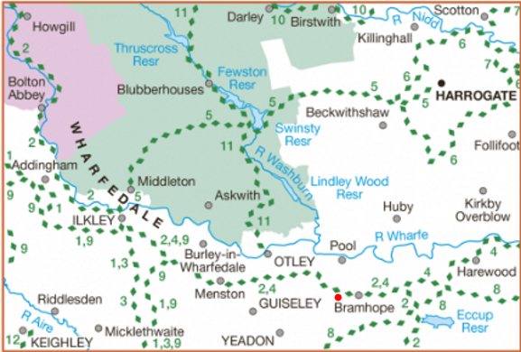 Lower Wharfedale & Washburn Valley