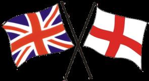 Union Jack and the Flag of Egland.