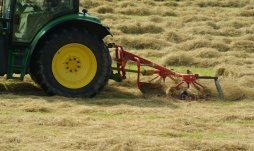 Lifting the Hay for baling